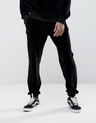 Antioch Tapered Velour Joggers - Black