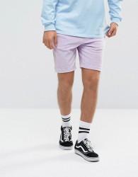 Antioch Velour Shorts - Purple