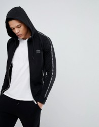 Antony Morato Hooded Jacket In Black With Side Stripe Detail - Black