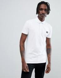 Antony Morato jersey polo shirt in white with logo - White