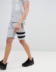 Antony Morato Jersey Short With Stripe Leg - Grey