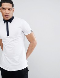 Antony Morato Polo Shirt With Contrast Collar In White - White