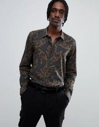 Antony Morato shirt in khaki with tiger print - Green