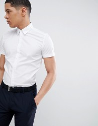 Antony Morato Stretch Short Sleeve Shirt In White - White