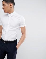Antony Morato Stretch Short Sleeve Shirt In White - White