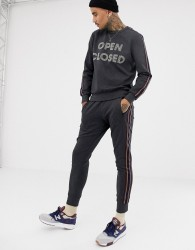Antony Morato sweatpants in grey with side stripe - Grey