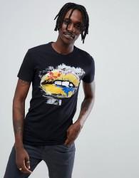 Antony Morato T-Shirt In Navy With Lips Print - Navy