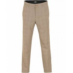 A.P.C Chino Lift Check Trousers Beige Fonce