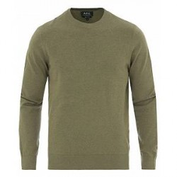 A.P.C Thierry Cotton/Cashmere Pullover Khaki Green