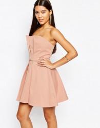 AQ/AQ Bandeau Prom Mini Dress - Pink