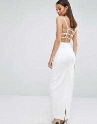 AQ/AQ Maier Caged Back Maxi Dress - Cream