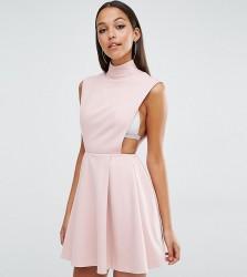 AQ/AQ Sorah High Neck Mini Dress - Pink