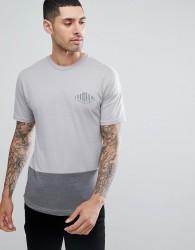 Armada Dub Logo Cut & Sew T-Shirt in Grey Marl - Grey