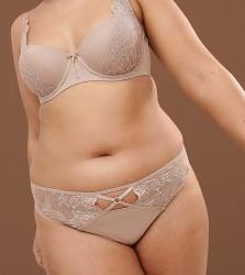 Ashley Graham Nude Thong In Fair - Beige
