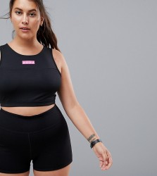 ASOS 4505 Curve training booty short - Black