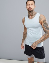 ASOS 4505 Muscle Vest With Quick Dry In Grey - Grey