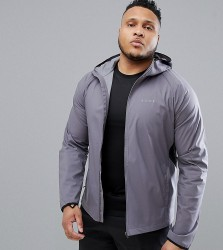 ASOS 4505 Plus windbreaker with breathable mesh panels in grey - Grey