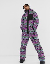 ASOS 4505 ski suit with 90s print - Black