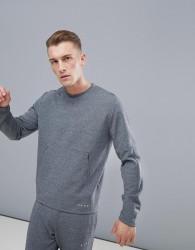 ASOS 4505 sweatshirt with cut & sew in grey - Grey