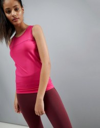 ASOS 4505 Training Vest Top In Performance Jersey With Seam Detail - Pink