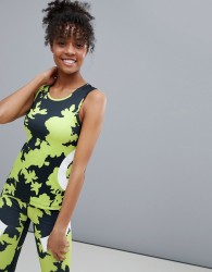 ASOS 4505 vest top in floral print with body contour detail - Multi