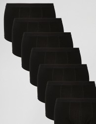 ASOS 7 Pack Trunks In Black SAVE - Black
