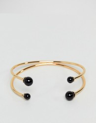 ASOS Ball End Cuff Bracelet - Gold