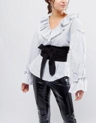 ASOS Black Fabric Obi Belt - Black