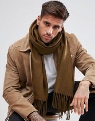 ASOS Blanket Scarf In Khaki - Grey