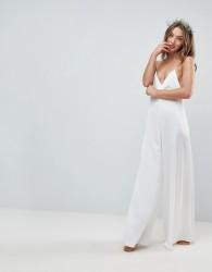ASOS Bridal Nightwear Jumpsuit - White