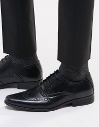 ASOS Brogue Shoes in Black - Black