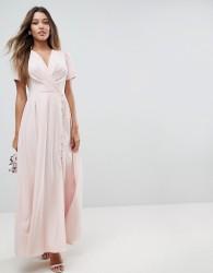 ASOS Button Through Maxi Tea Dress - Pink