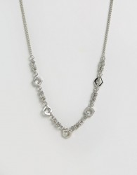 ASOS Chain Interest Necklace - Silver