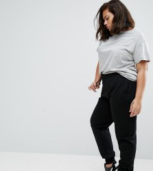 ASOS CURVE Basic Jogger with Tie - Black