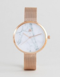 ASOS CURVE Marble Face Mesh Watch - Copper