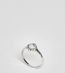ASOS CURVE Mermaid Square Stone Pinky Ring - Silver