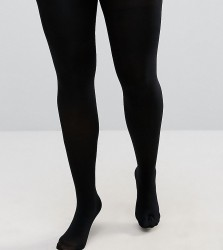 ASOS CURVE Super Stretch New And Improved Fit Tights 140 Denier Tights - Black