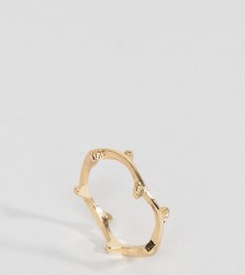 ASOS CURVE Woven Leaf Ring - Gold