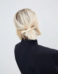 ASOS Curved Brushed Bar Barette Hair Clip - Gold