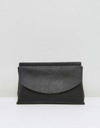ASOS Curved Flap Clutch Bag - Black