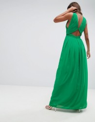 ASOS Cut Out Back Maxi Dress - Green