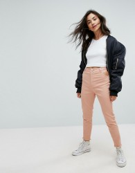 ASOS Cut Out Side Skinny Trousers - Pink