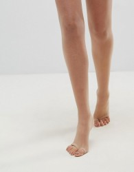 ASOS DESIGN 8 denier nude tights in beige with sandal toe detail - Beige