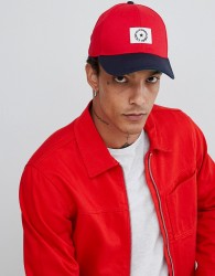 ASOS DESIGN baseball cap in red colourblock - Multi
