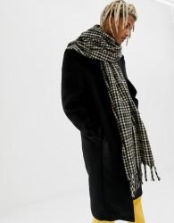 ASOS DESIGN blanket scarf in brown check - Brown