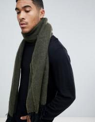 ASOS DESIGN blanket scarf in olive texture - Green