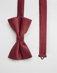 ASOS DESIGN bow tie in burgundy - Red