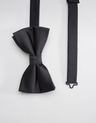 ASOS DESIGN bow wedding tie in black - Black