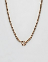 ASOS DESIGN chain with geo fastening in gold - Gold