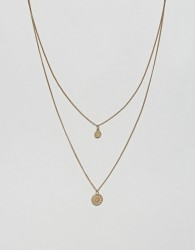 ASOS DESIGN chakra multirow necklace - Gold